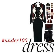 """#16 #under100 dress"" by tabiisbae on Polyvore featuring Van Cleef & Arpels, WearAll, JustFab, BET Barcelona, Chanel, Louis Vuitton, NARS Cosmetics, MAC Cosmetics, Real Purity and Givenchy"