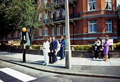 Dans les backstages de la session photo pour Abbey Road