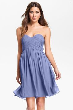 Donna Morgan | 'Morgan' Strapless Silk Chiffon Dress