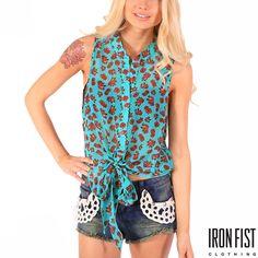 아이언피스트 scary prairie sleeveless blouse  #ironfist #아이언피스트 #펑키 #유니크 #여자캐주얼 #블라우스