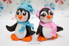 Fondant Penguin Cupcake Toppers <3  TFL
