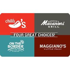 #eBay: $40 or 20% Off: $40 for $50 Brinker 4-Choice Gift Card (includes Chili's Macaroni Grill On the Border ... #LavaHot http://www.lavahotdeals.com/us/cheap/40-50-brinker-4-choice-gift-card-includes/99128