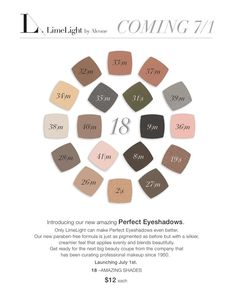 Look what's coming July 1st!!!!! Yippee!! Paraben free eye shadows!! Independent Beauty Guide LimeLight by Alcone AllINeedIsMakeup.com