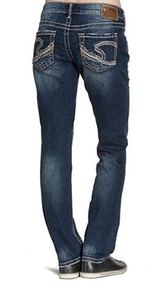 NWT SILVER JEANS Mid Rise Distressed Suki Super Skinny Stretch ...