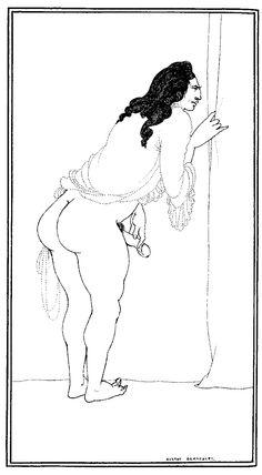 Adulterer - Aubrey Beardsley.  Art Experience NYC  www.artexperiencenyc.com/social_login/?utm_source=pinterest_medium=pins_content=pinterest_pins_campaign=pinterest_initial