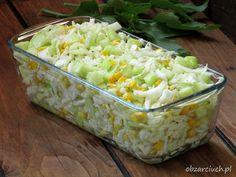 Surówka 3 - składnikowa - Obżarciuch Polish Recipes, Polish Food, Side Salad, Feta, Potato Salad, Grains, Potatoes, Rice, Vegetables