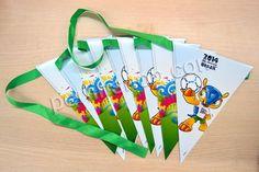 Papier Hängende Dekoration, Dreieck, 2014 Brasilien Weltmeisterschaft Geschenk, 200x300x10mm, verkauft von Stück - perlinshop.com