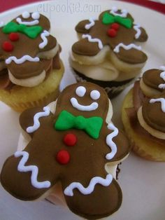 Gingerbread Men Cupcakes