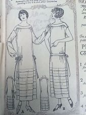 Vintage Original 1920s Flapper Gown Sewing McCall 3632 size 38 Printo Gravure