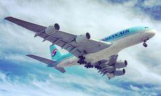 Super Jumbo. #A388 #airbus #london #heathrow #clouds #landing #flightpath #plane #koreanair #shotoniphone6s