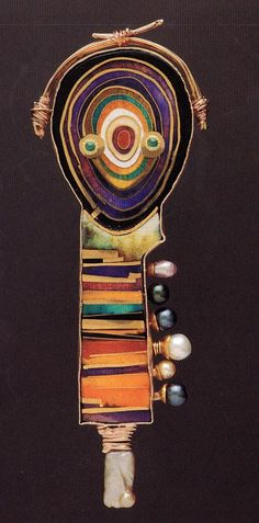 william harper FABERGE'S SEED# 8 1993 gold and silver cloisonné' enamel on fine gold and fine silver; pearls; tourmaline