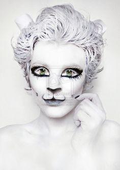 White+Kitty+Cat.+Makeup.+Body+paint+by+NatashaKudashkina.deviantart.com+on+@deviantART