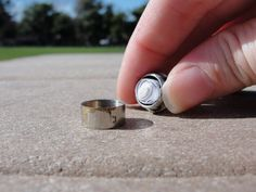 Geocaching: an awesome game that involves finding stuff hidden in plain sight.