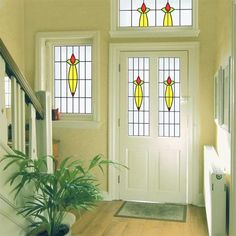Buy Beryl C online from Purlfrost. Easy to apply in minutes. Stained Glass Window Film, Art Deco Design, Gallery Wall, Sea Glass Art, Front Door, Glass Material, Glass Design, Stain, Glass Bathroom