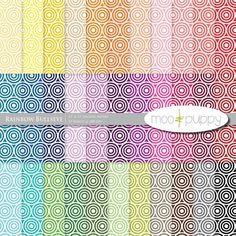 Digital Scrapbook Paper Pack    Rainbow Bullseye  by mooandpuppy  https://www.etsy.com/listing/156176899/digital-scrapbook-paper-pack-rainbow?ref=shop_home_active_20