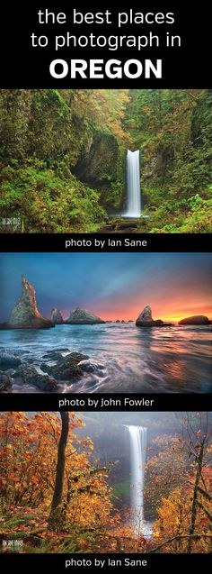 The Best Places to Photograph in Oregon. Landscape, nature, photography, photos, planning, scouting, destinations, locations, map, waterfalls, Pacific Coast, Columbia River Gorge, Latourell Falls, Wahkeena Falls, Multnomah Falls, Weisendanger Falls, Horsetail, Elowah, Wahclella, Ecola State Park, Cannon Beach Haystack Rock, Cape Kiwanda, Cape Perpetua, Thor's Well, Crater Lake National Park, John Day Fossil Beds, Silver Falls, Hells Canyon, Mount Hood #oregon #photography…