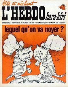 L'Hebdo Hara Kiri - # 18 - 2 Juin 1969 - Couverture : Gébé