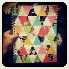 Notebook cover DIY originally by Elsie Larson