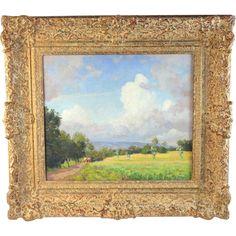 Landscape Oil Painting bt Dutch Listed Artist Carel Lodewijk Dake II (1885-1946)