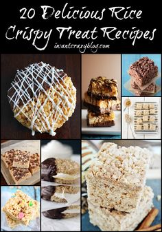 20 Delicious Rice Crispy Treat Recipes #favorite #crispytreats