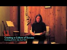 Parent Talk - Creating a Culture of Success: Practicing (Ask, Don't Tell). This is one of four short videos from a talk I did for parents of young musicians on the topic of practicing. This concept is important for educators and parents to understand because the brain processes questions differently that comments.