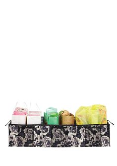 On ideel: ISAAC MIZRAHI Watercolor Rose 3-Compartment Shopping Organizer