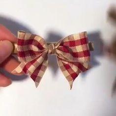 Making Hair Bows, Diy Hair Bows, Diy Ribbon, Ribbon Bows, Ribbon Bow Tutorial, Ribbon Crafts, Hand Embroidery Videos, Diy Crafts For Gifts, Diy Headband