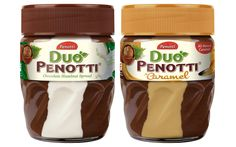Empire Bespoke Foods has launched two new flavours of Duo Penotti's chocolate hazelnut combination spreads in the UK. Nutella Spread, Chocolate Spread, Chocolate Hazelnut, Famous Chocolate, Sandwich Spread, Hazelnut Spread, Plant Protein, Breakfast Cereal, New Flavour