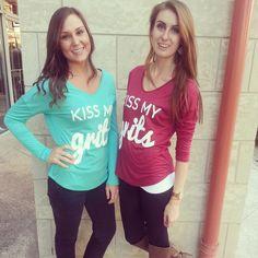 Kiss My Grits tee! Its a must have Shop Destin Stars Boutique <3 #fall #kissmygrits #fallfashion