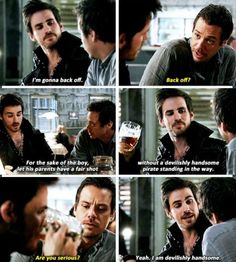 "Hook. OUAT. ""Yeah, I am devilishly handsome."""