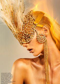 aintyourforte: Anouk Sanders   Norbert Kniat   1st Magazine September 2012   Go For Gold