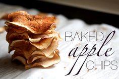 Pečené jablečné chipsy - Testováno na dětech