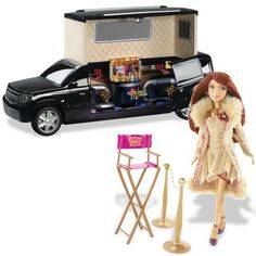 Barbie My Scene Goes Hollywood Lindsay Lohan doll and Limo. Now you can re-enact her multiple hit-and-runs. Barbie Playsets, Barbie Kitchen, Monogram Alphabet, Lindsay Lohan, Barbie Accessories, Barbie Friends, Christmas Toys, Limo, Collector Dolls