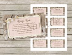 BlushPink Wood and Lace Diaper Raffle Ticket Baby Shower Baby Shower Invitaciones, Babyshower Invites, Diaper Raffle Tickets, Rustic Shabby Chic, Blush Pink, Printables, Invitations, Etsy, Handmade Gifts
