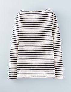 Essential Boatneck WL997 Clothing at Boden - navy and ivory $28.50