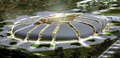 the EcoHouse-sponsored team, Alecrim FC, was invited to feature on the opening day against rivals ABC. At the Arena das Dunas (Dunes Arena) in Natal this arena will be hosting four World Cup matches Stadium Architecture, Architecture Design, Fantasy Landscape, Landscape Design, Wold Cup, World Cup Stadiums, Brazil News, World Cup Match, Fifa