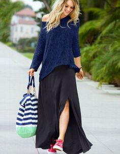 maxi dress with sneakers 1