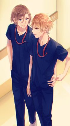 Itaru and Banri from Anime Boys, Manga Anime, Hot Anime Boy, Manga Boy, I Love Anime, Anime Harem, Animes Online, Cartoon Background, Anime Couples Drawings