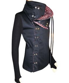 Haute Butch: The Rebel Jacket with Red & Black Tweed Collar Lining