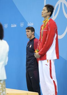 #RIO2016 Michael Phelps of United States celebrates his 4th gold medal after the final men's 200m individual Medley at Olympic Aquatics Stadium on August 11...