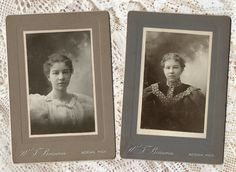 Lot of 2 Antique Victorian Cabinet Cards by by VintageToAntiquity