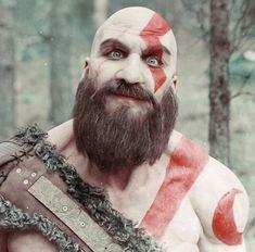 Happy Kratos - Cosplay #Cosplay #Kratos #GodOfWar #Gamer #Costume #Gaming #MuscleGeek #Muscles #Mythology