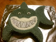 Shark Cake. Nathaniel wants this for his party this weekend. =)