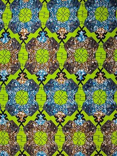 Super Wax Print African Fabric 6 Yards 100% Cotton sw108615