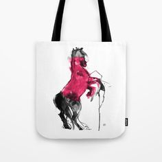 Red Circle Tote Bag by Paper Horses - $22.00