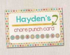 Chore Punch Cards Free Printable