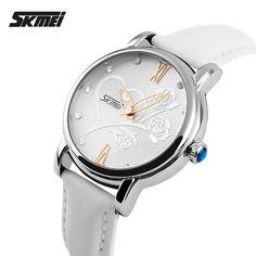 Leather Lady Fancy Wristwatch Custom Brand Watch Skmei 9095 In Wholesale Market