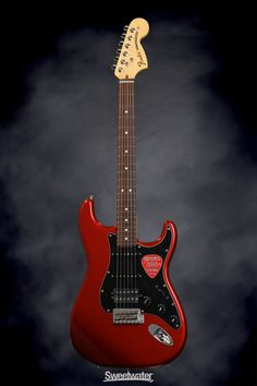 Fender American Special Stratocaster HSS - Candy Apple Red   Sweetwater.com   Solidbody Electric Guitar with Alder Body, Maple Neck, Rosewood Fingerboard, One Humbucking and Two Single-coil Pickups, and Gig Bag - Candy Apple Red