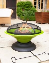 Green firepit Heats your outdoor area effectively allowing you to extend summer evenings outdoors. Also adds great colour and style to garden area.