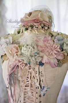 Shabbyfufu Originals Dressform Mannequin...Corset Laced Prairie Girl-